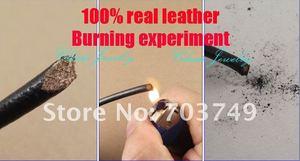 """Image 2 - (16 """" 38"""") 20 piezas 3mm negro cuero Real collar Acero inoxidable accesorios joyería DIY ZPP028"""