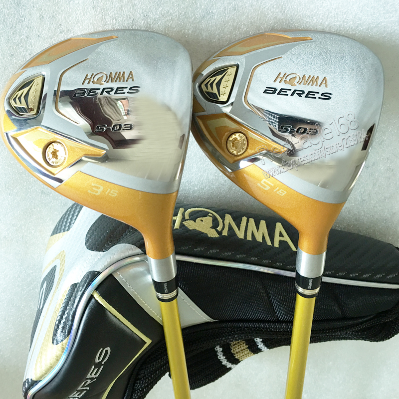 Cooyute New mens Golf clubs HONMA S-03 4 Star 3/15 5/18 Golf fairway wood with Graphite Golf shaft wood clubs free shipping 1