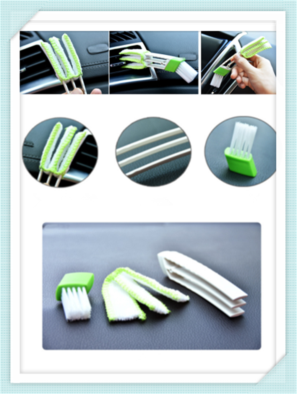 Car cleaning brush air conditioner computer blinds care For <font><b>Mercedes</b></font> Benz W205 <font><b>W201</b></font> A B C E S Class GLA CLK Smart Any Ca image