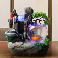 Fountain Desktop Small Fish Tank Water Decoration Study Decoration Gifts