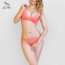 Backless Bra panties set With Lace Front Closure Bra Set Push Up Y-line Straps Ladies Lingerie Underwear women  Brassiere