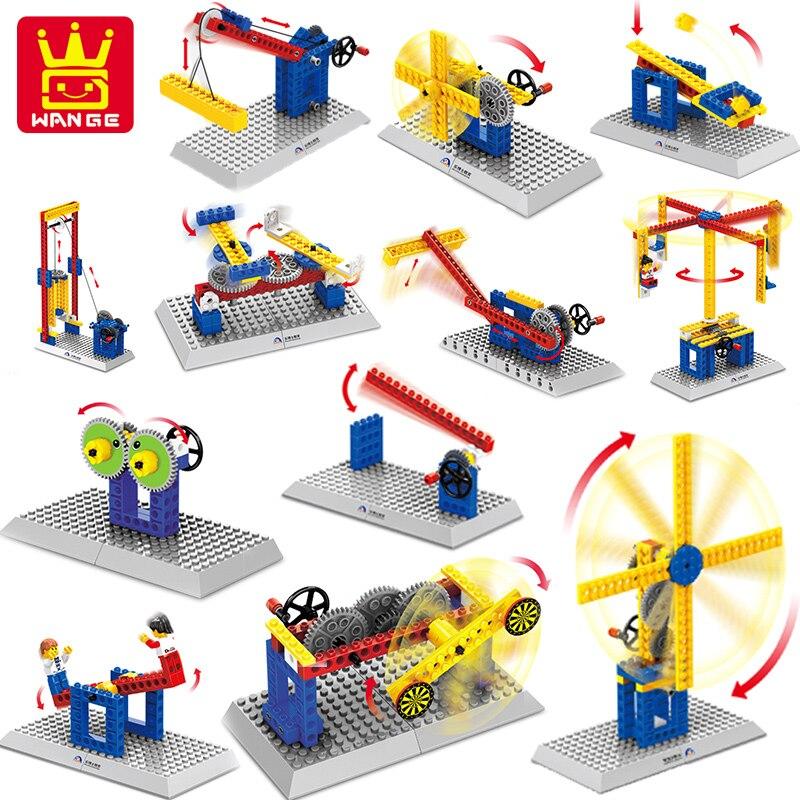 3 IN1 Wange Mechanical Engineering Building Blocks Bricks Kids font b Toys b font DIY Model