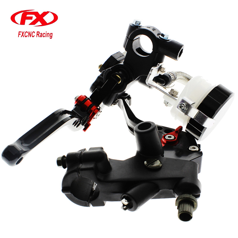 FX CNC 22mm Universal Adjustable Hydraulic Brake Cable Clutch Levers Master Cylinder Reservoir Set For KAWASAKI NINJA 300R 7 8 22mm universal motorcycle hydraulic brake master cylinder clutch reservoir levers set for kawasaki ninja 250 300 z900 z650