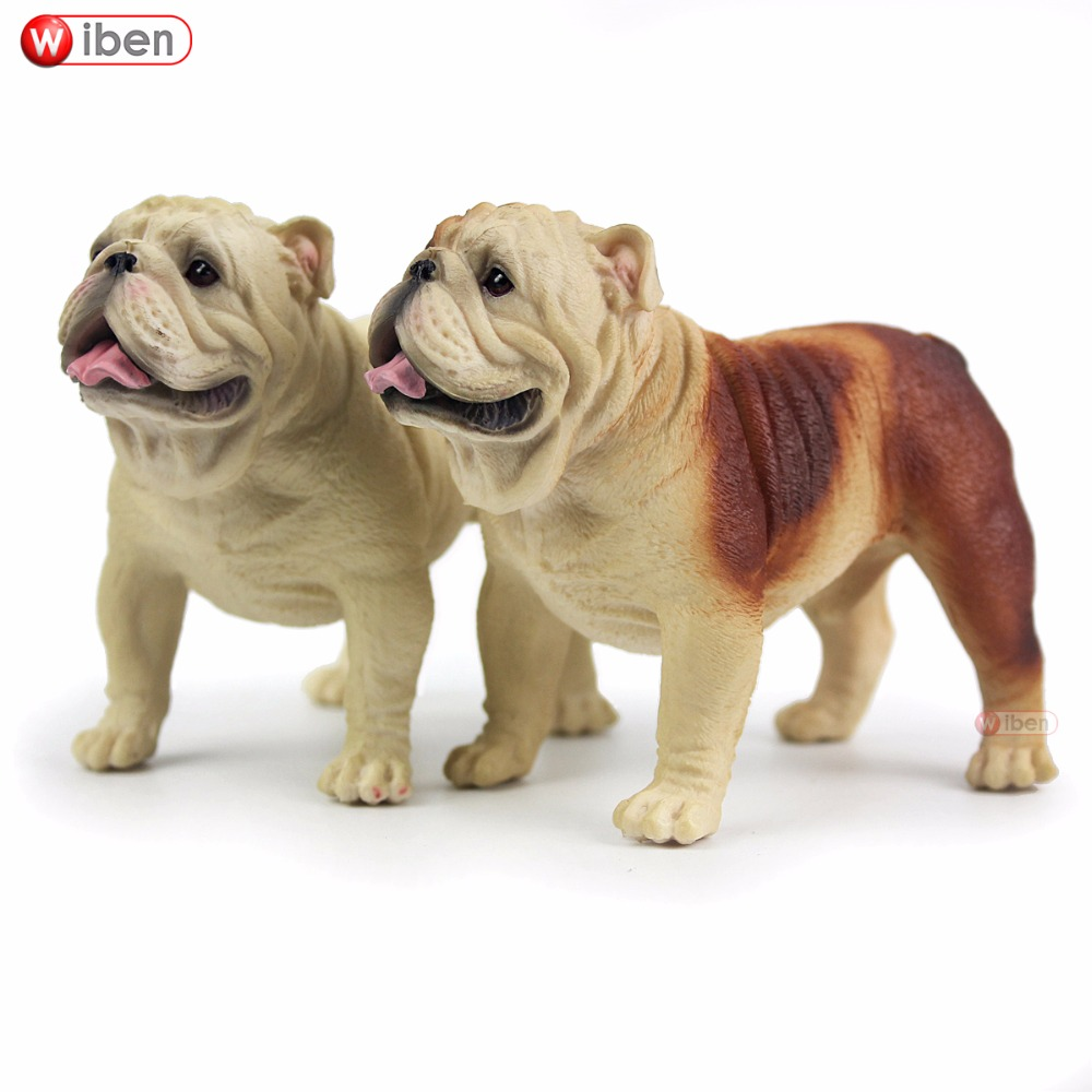 Wiben Hot Toys Pet Dog Bulldog Simulation Animal Model Action & Toy Figures Learning & Education Gifts
