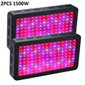 2Pcs BOSSLED 1500W Double Chips Black LED Grow Light Full Spectrum 410-730nm For Indoor Plants and Flower Phrase Very High Yield
