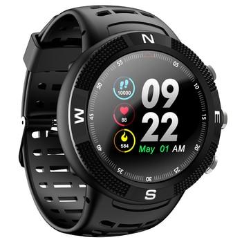 BINSSAW 2019 New IP68 Waterproof GPS Smart Watch F18 Color Screen Big Battery Hear Rate Monitor Men Women Sport Smartwatch+BOX