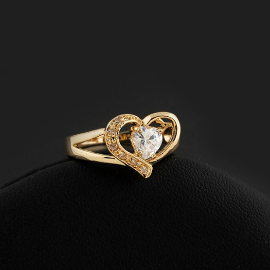 New Arrival Heart Design Wedding Ring for women Full Size Wholesale E-shine Jewelry