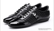 BALDININI new men's casual shoes patent leather shoes in British han edition shoes wear men's shoes leather business