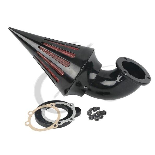 Motorcycle Spike Air Cleaner Intake Filter Kit For Harley CV S&S Carburetors Sportster New chrom cone spike air cleaner intake filter kit for harley sportste cv s