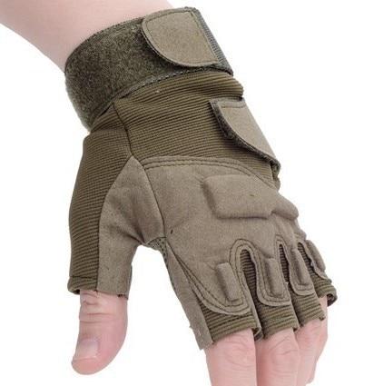 Onebow тактические уличные рабочие перчатки без пальцев мужские охотничьи велосипедные мотоциклетные спортивные американские военные городские спецназ - Цвет: Army green