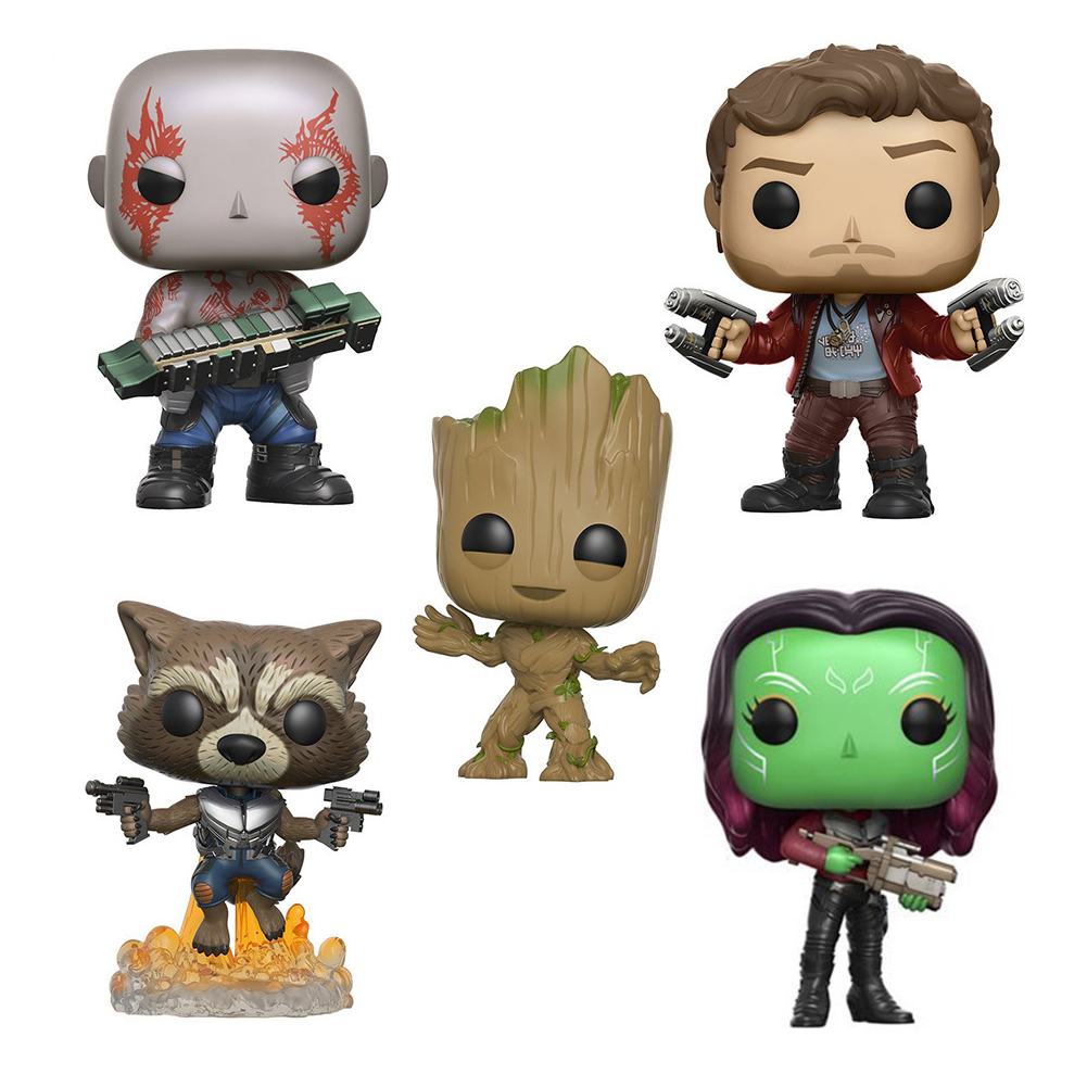 Guardians of the Galaxy 2 Characters VINYL Kawaii 10cm Action Figure Toys майка классическая printio guardians of the galaxy vol 2