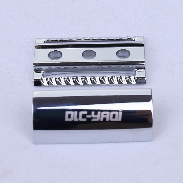 Chrome Color Scalloped Bar Double Edge Safety Razor Head 1