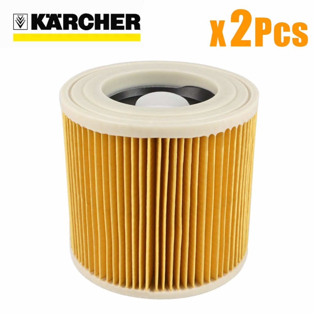 2Pcs/lot replacement air dust filters bags for Karcher Vacuum Cleaners parts Cartridge HEPA Filter WD2250 WD3200 MV2 MV3 WD2 WD3  цены