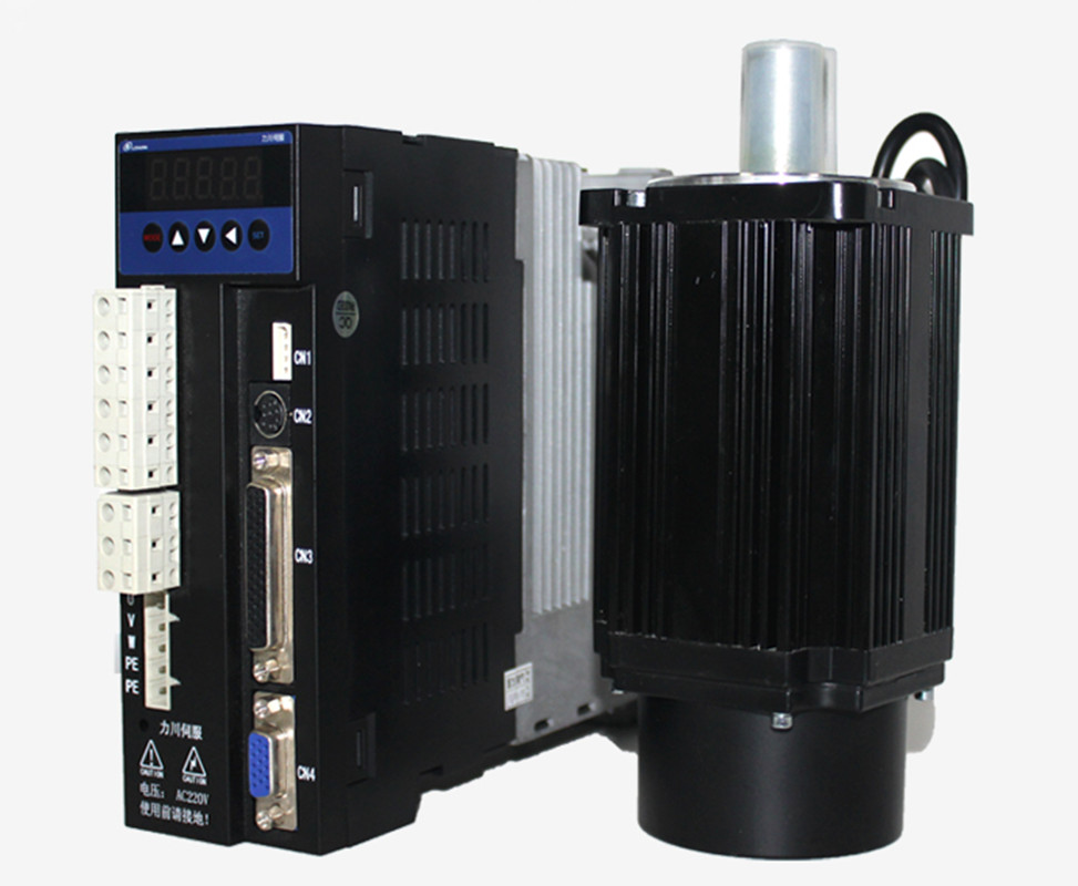3phase 220V 1000W 1KW 4N.m 2500rpm 130mm AC servo motor drive kit 2500ppr with 3m cable цена