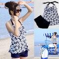 Delicate 2015 summer swimsuit women swimwear push up tankinis dot parttern women set Apr7 wholesale