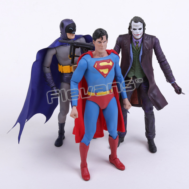 NECA DC Comics Batman Superman The Joker PVC Action Figure Collectible Toy 7 18cm 3 Styles batman the joker playing poker ver pvc action figure collectible model toy 19cm