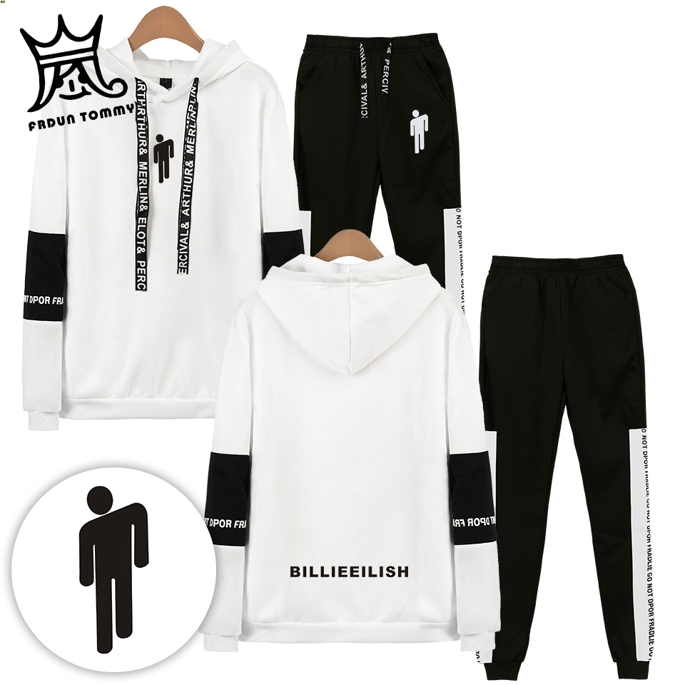 Frdun Tommy Billie Eilish Sweatshirts New Arrival Casual Two Piece Set Hooded Suit Men/Woman Hoodies Sweatshirts And Sweatpants