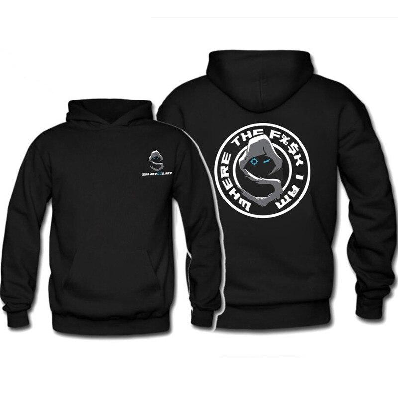 Mens Hoodie Sweatshirt Sh-Roud-Game Sweater Black
