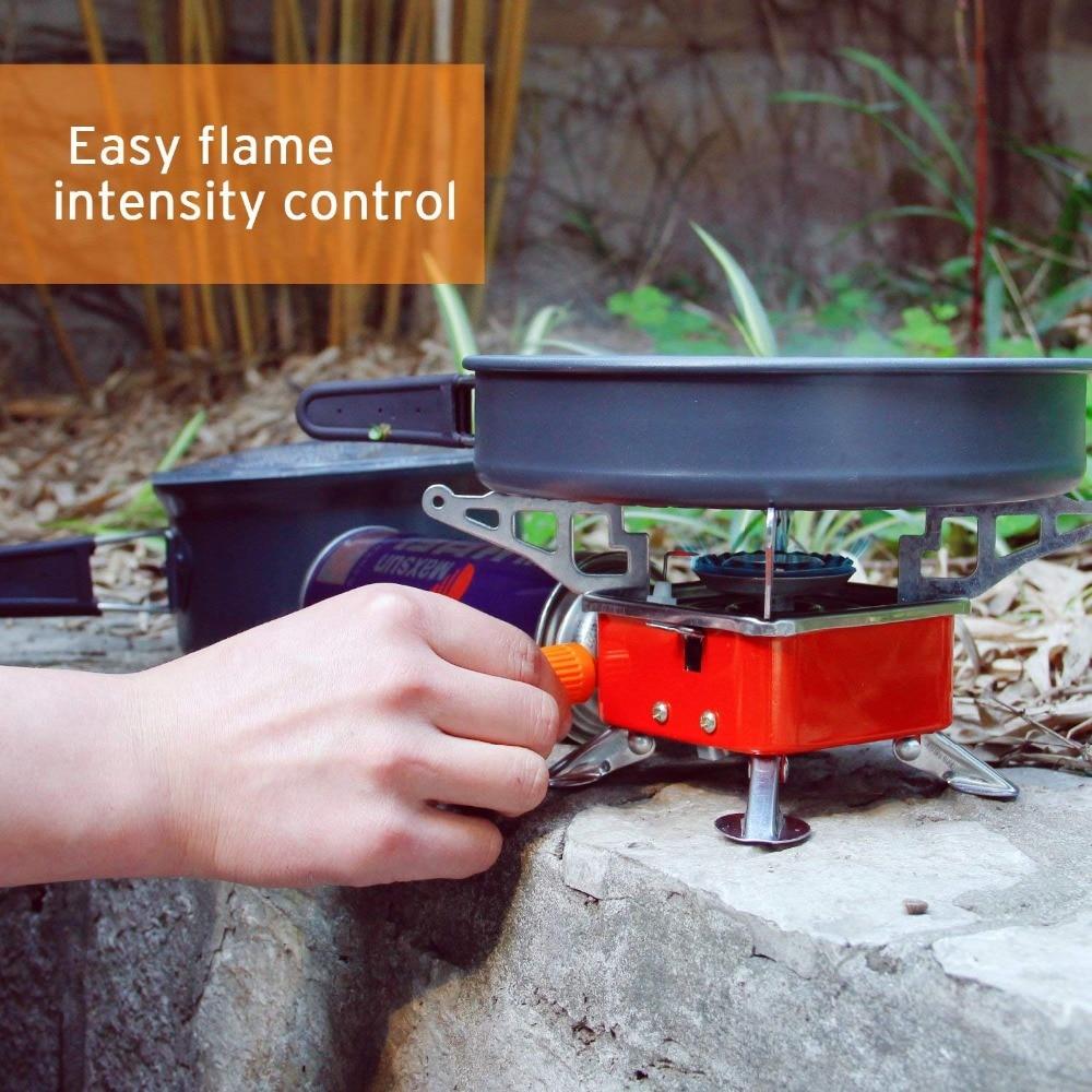 Folding Mini Stove 3500W Portable Burner Collapsible Butane Gas Cooker Camping
