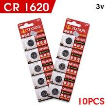 Bateria de Lítio plus Grande Promoção plus 10X Cr1620 CR 1620 3 V Botão Bateria de Carro Controle Remoto Escalas Motherboard