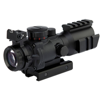 Compact Prism 4x32mm Riflescopes Hunting 4 X32 Prism On Three Sides By Rail Optic Sight Rifle