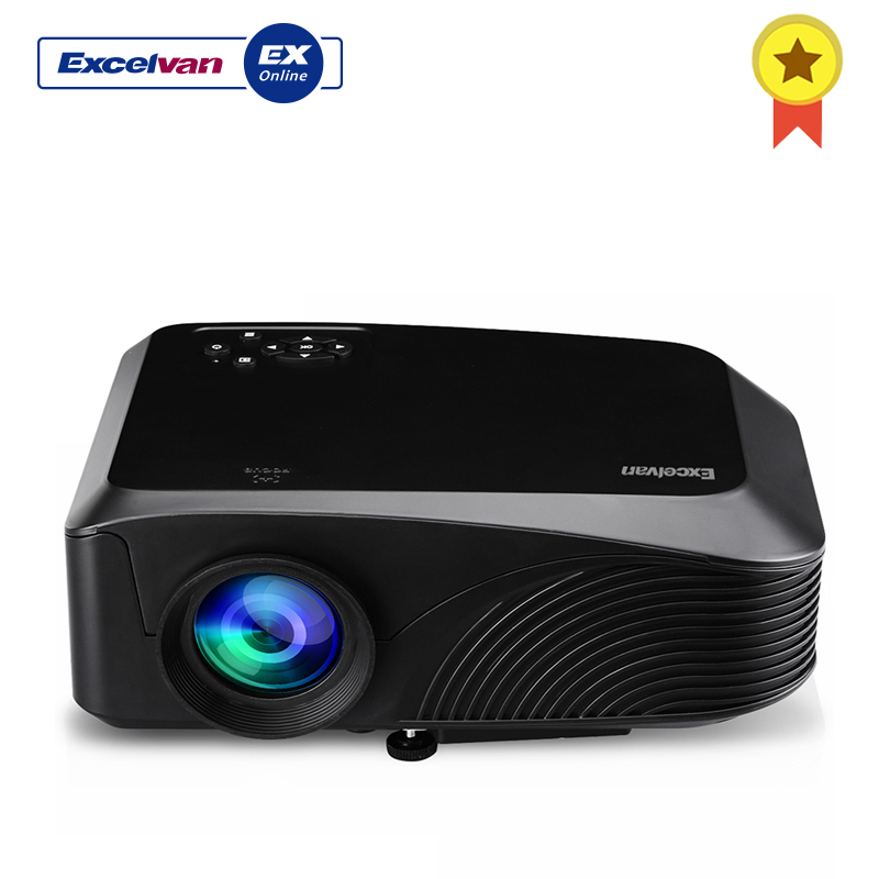 Excelvan LED4018 Portable 1200 Lumen 800*480 Max 1080P 130 Inch Red-blue 3D With HDMI USB VGA AV TF Interface Home TheaterExcelvan LED4018 Portable 1200 Lumen 800*480 Max 1080P 130 Inch Red-blue 3D With HDMI USB VGA AV TF Interface Home Theater