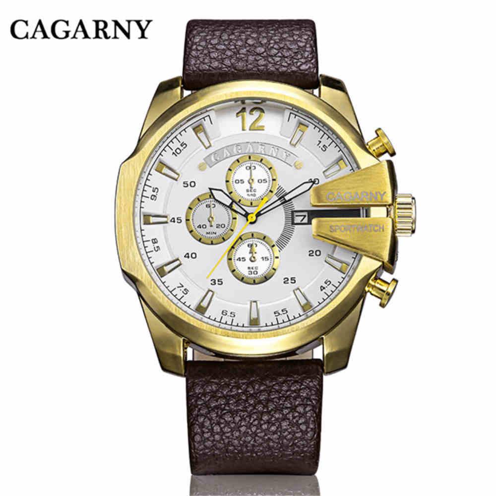 CAGARNY órák férfi luxus márka nagy tárcsázás sportóra - Férfi órák - Fénykép 3