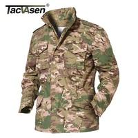TACVASEN M65 Army Camouflage Jacket Military Tactical Jacket Men Winter Windbreaker Male Thermal Waterproof Jacket Raincoat