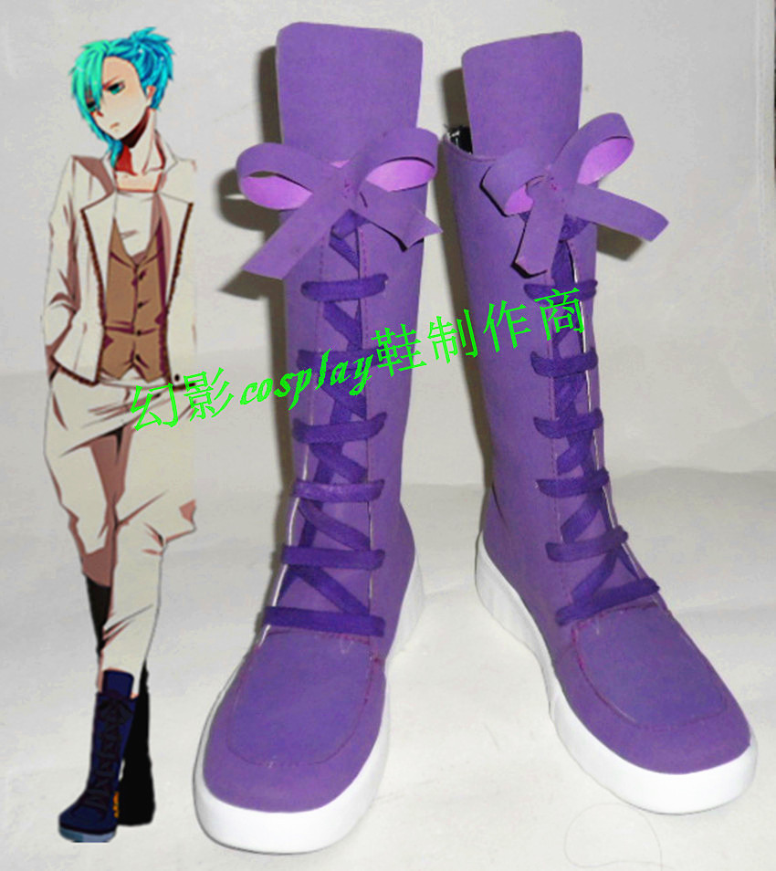 Uta NO Prince Sama Mikaze Ai Purple Long Halloween Cosplay Shoes Boots H016