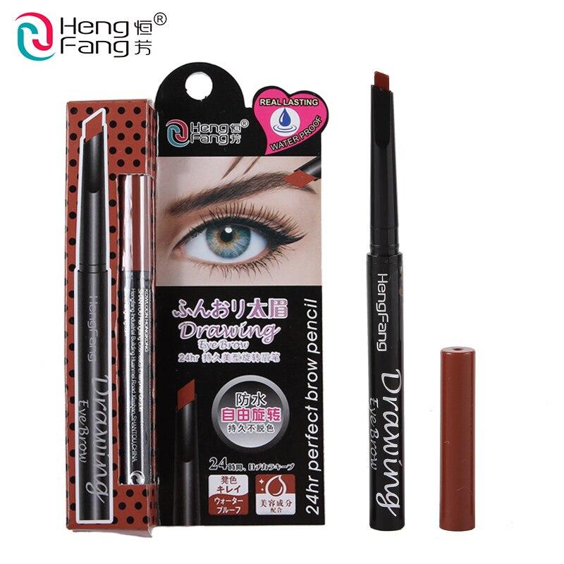 Lápis de Sobrancelha Automática à prova d' água 24 Horas Long-Lasting 3 Cor Desenho Potenciador Olho 0.5g Maquiagem Marca HengFang # H6502