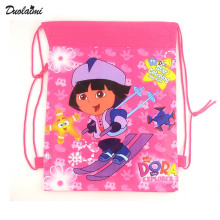 1 pic Dora school bags kids cartoon backpack drawstring bag & infantile For children bag back to school mochila news 2016