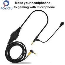 Für Sennheiser HD598 HD518 HD558 HD599 HD569 Kopfhörer Kabel Spiel Boom Kopfhörer Mikrofon Headset Linie Kabel Für Xbox One PC