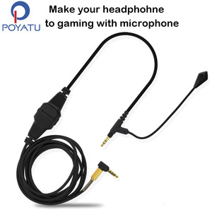 Image 1 - For Sennheiser HD598 HD518 HD558 HD599 HD569 Headphone Cable Game Boom Headphone Microphone Headset Line Cable For Xbox One PC