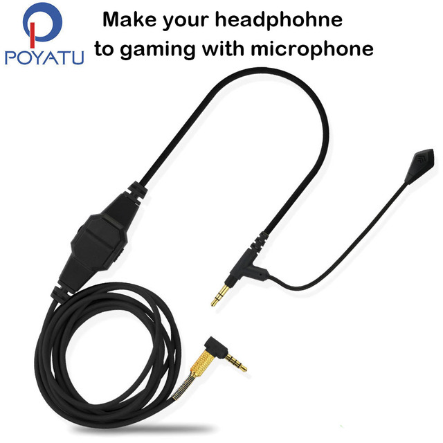 0d18e867e11 For Sennheiser HD598 HD518 HD558 HD599 HD569 Headphone Cable Game Boom  Headphone Microphone Headset Line Cable For Xbox One PC