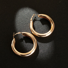 Euramerican adorn article fashionable wind gold silver ring individual character hollow out earring