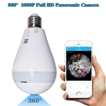 1080P HD 360 degree Wireless IP Camera Bulb Light FishEye Smart Home CCTV 3D VR Camera 2MP Home Security WiFi Camera Panoramic