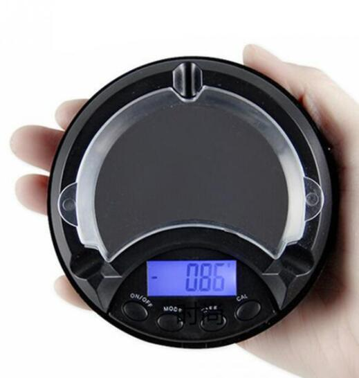 Digital Scale Mini LCD Display Digital Scales Ashtray Pocket Jewelry Herbs Weighing Electronic Measure With Movable Upper Cover