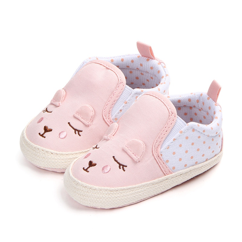 Baby Girls Shoes Animal Pattern Baby Shoes Anti-slip Toddler Crib First Walkers 0-18 MonthsY13