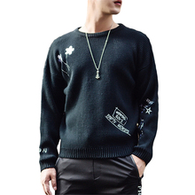 2017 New Style Autumn Fashion Brand Casual Sweater 0-Neck Print High Quality Slim Fit Knitting Mens Sweaters And Pullovers