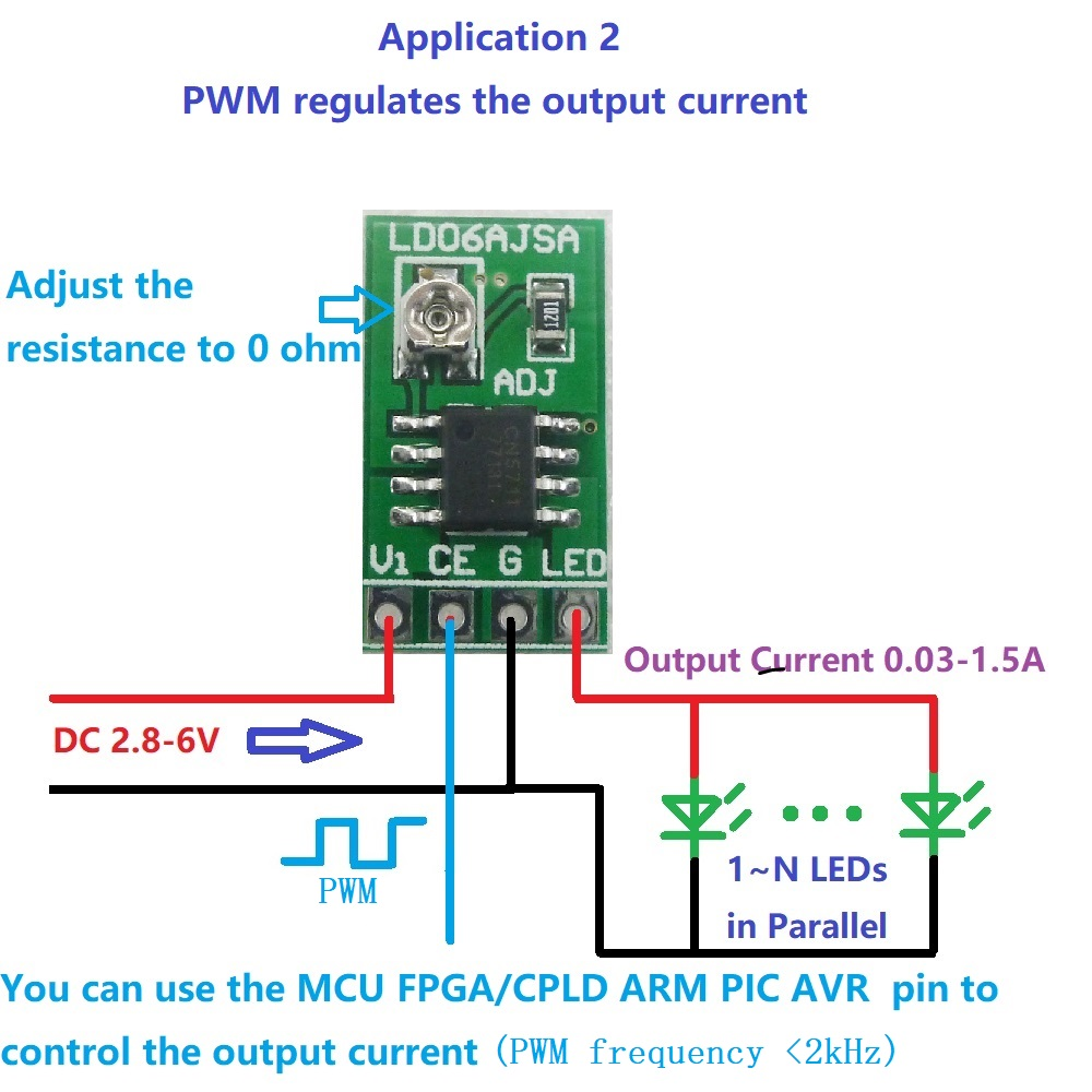 Dc 3 6v 003 15a Led Driver Constant Current Adjustable Module Pwm Dimmer Using Ne555 Control Board For Arduino Uno Mega2560 Breadboard Pic Arm In Integrated Circuits From