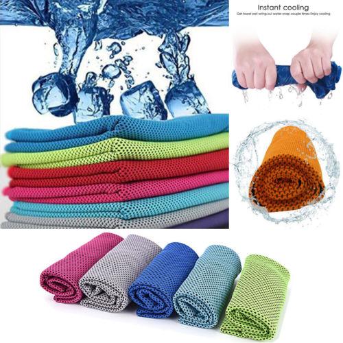 Sweat Towels Sign: Summer Cooling Sports Gym Yoga Jogging Towel Workout