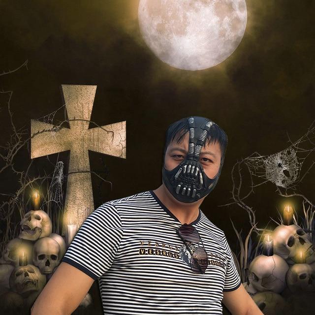 Schädel Latexmaske Halbe Gesicht Maske Für Erwachsene Atmungs ...