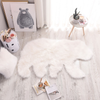 Fluffy White Polar Bear Faux Fur Artificial Sheepskin Carpet Mat Area Rug Living Bedroom Parlor Home Decoration Shooting Prop