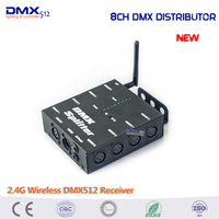 8 Way DMX512 Splitter LED Light Stage Light Signal Amplifier Splitter DMX Distributor