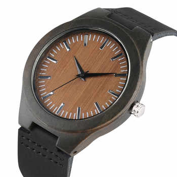 Wooden Watches Quartz Watch Men 2017 Bamboo Modern Wristwatch Analog Nature Wood Fashion Soft Leather Creative Birthday Gifts - DISCOUNT ITEM  43% OFF All Category