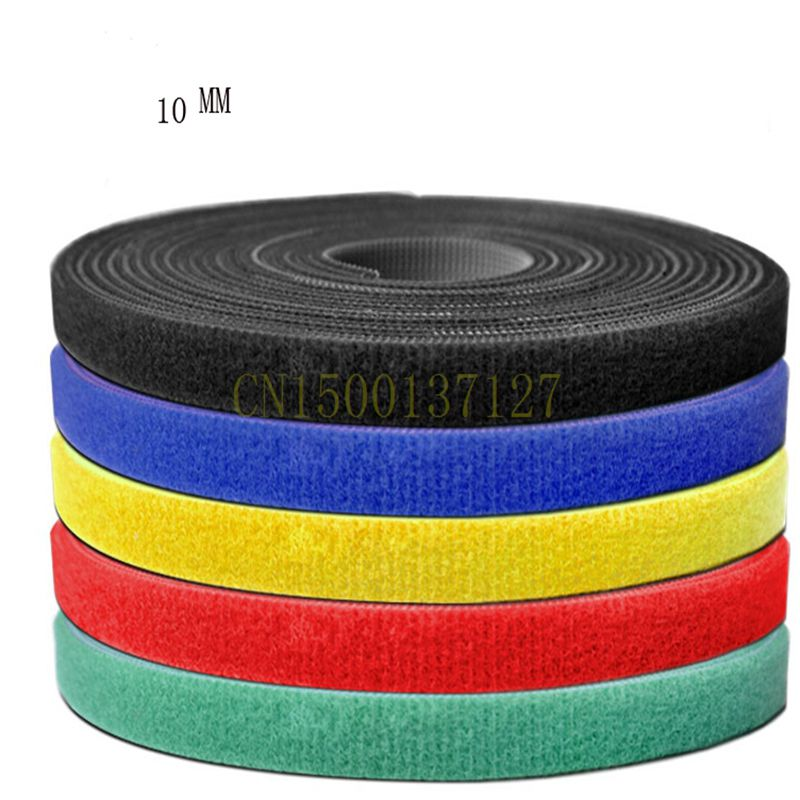 все цены на 1PCS cable tie tape Wide 10 mm Short Hook Back to Back Cable Tie Nylon Fastening 5 Meters онлайн