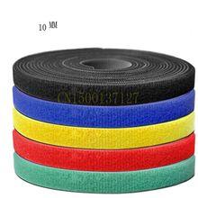 1 шт. кабельные стяжки ленты шириной 10 мм короткие крючок обратно к спине кабельная стяжка нейлон застёжки 5 м