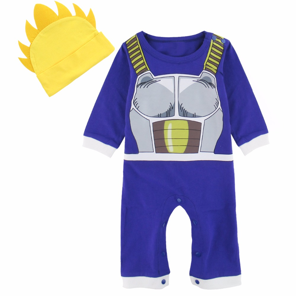 Baby Boys Dragon Ball Z Vegeta Costume Halloween Fancy Dressing Newborn Playsuit