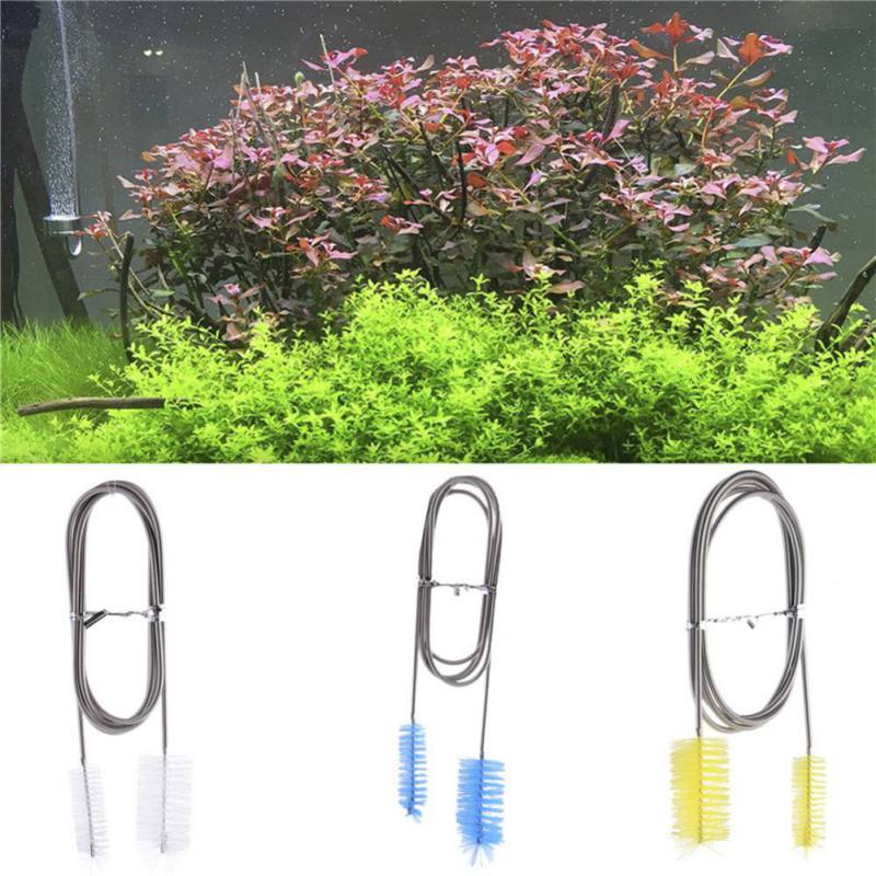 155cm Flexible Cleaning Tube Ended Double Brush Aquarium Filter Pump Pipe Hose Shrimp Aquarium Fish Tank Cleaner Accessories in Cleaning Tools from Home Garden