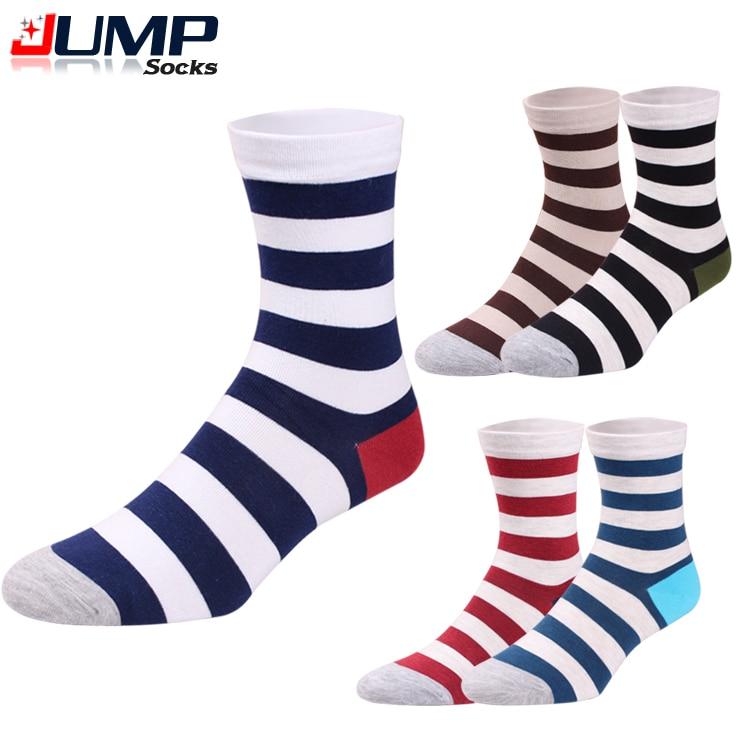 Fashion 70% Cotton Navy Stripes Mens Crew Socks Casual Cheap Mens Dress Socks